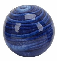 """4"""" Dark Blue Lined Ceramic Orb"""