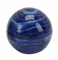 """3"""" Dark Blue Lined Ceramic Orb"""