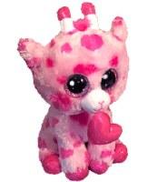 "6"" Sweetums Valentine Giraffe Beanie Boos Plush Toy"