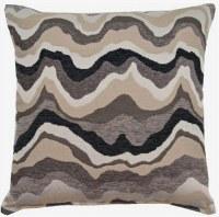 """17"""" Square Charcoal Piedmont Pillow"""