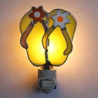 "5"" Multicolor Glass Flip Flop Night Light"