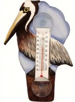 "7"" Brown Pelican Window Thermometer"