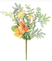 "12"" Faux Gold and Orange Ranunculus Pick"
