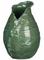 "10"" Green Lily Pad Ceramic Vase"