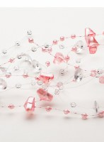 5'L Pink and Clear Bead Garland