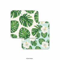 "Pack of 10 4"" Tropical Leaf Coasters"