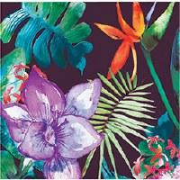 """5"""" Tropical Floral Beverage Napkins"""