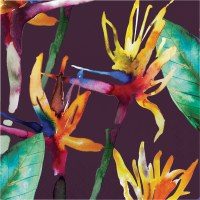 "6.5"" Tropical Foliage Luncheon Napkin"