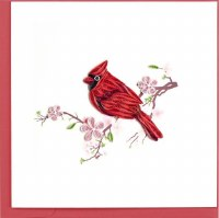 "6x6"" Quilling Greeting Cardinal Greeting Card"