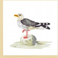 """6x6"""" Quilling Seagull Greeting Card"""