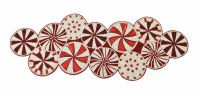 """36"""" Red and White Beaded Candy Runner"""