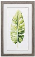 "31"" x 19"" Thin Banana Leaf Framed Print Under Glass"