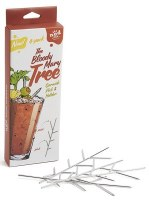 """8"""" Set of 4 Stainless Steel Bloody  Mary Trees"""