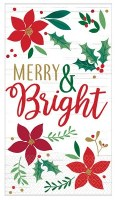 "8"" x 5"" Merry and Bright Paper Guest Towels"