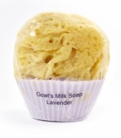 Lavender Cupcake Soap With a Sponge