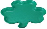 "11"" Green Shamrock Shaped Platter"