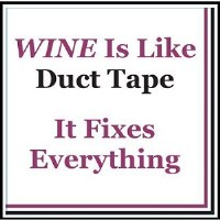 """5"""" Square Wine is Like Duct Tape Paper Beverage Napkins"""