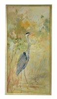 "50"" x 26"" Blue Heron Right Eye On Canvas"