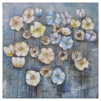 "31"" Square Flowery Fog Canvas 1"