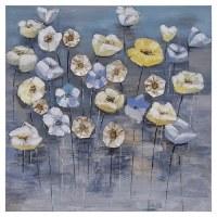 "31"" Square Flowery Fog Canvas 2"