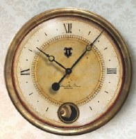 "16"" Round Gold With Cream Face Caffe Venezia Wall Clock"