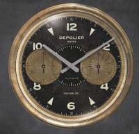 "23"" Round Cream Chronograph Wall Clock"