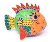 """8"""" Multicolored Coconut Fish"""