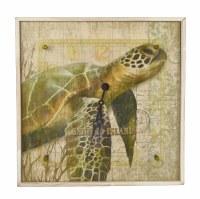 """21"""" Sanibel Island Sea Turtle Clock"""