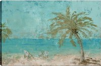 """36"""" x 54"""" Palm By The Ocean Canvas"""