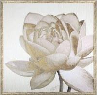 """36"""" Square Gold Floral Second Framed Gel"""