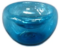 """6"""" Turquoise Glass Bowl"""