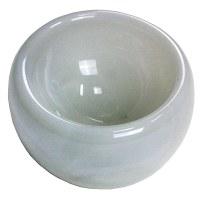 "10"" White Glass Bowl"