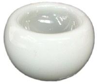 "6"" White Glass Bowl"