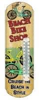 "18"" Metal Beach Bike Shop Thermometer"