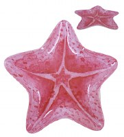 "9"" Coral Starfish Melamine Plate"
