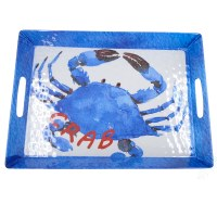 "13"" x 18"" Blue Crab Melamine Tray"