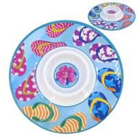 """13"""" Round Multicolor Flip-Flop Chip & Dip Tray"""