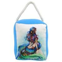 """6"""" Blue Mermaid Door Stop"""