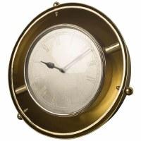 """18"""" Round Brass Halfmoon Clock"""