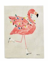 """16"""" x 12"""" Flamingo With Lights Canvas"""