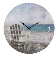 "23"" Round Adirondack Beach Chair Wall Clock"