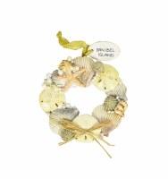 Sanibel Shell Wreath Ornament Resin
