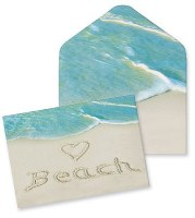 "4"" x 5"" Box of 10 Beach Note Cards"