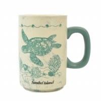 18 oz. Sanibel Turquoise Turtle Mug
