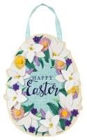"""20"""" x 13"""" Easter Lily Egg Door Hanger"""
