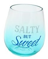 18 oz Salty but Sweet Stemless Plastic Wine Glass