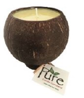 "3.5"" Holiday Scented Pure Coconut Candle"