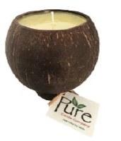 "3.5"" Plumeria Scented Pure Coconut Candle"