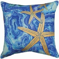 "12"" Square Agate Starfish Pillow"