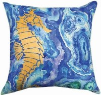 "18"" Square Agate Seahorse Pillow"